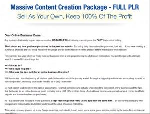 Content Creation PLR Pack