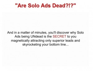 David Eisner - Are Solo Ads Dead