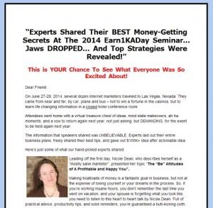 2014 Earn1KaDay Seminar Recordings