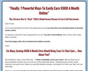 Dennis Becker - 500 Bucks a Month
