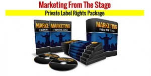 Marketing From The Stage PLR
