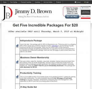Jimmy D Brown - 2015 Closeout Deal 1