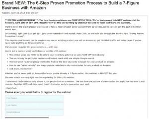 Amazing Selling Machine Webinar